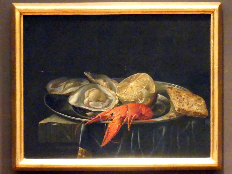 Johann Caspar Hirschely: Stillleben mit Austern, Krebsen und Zitrone, Undatiert