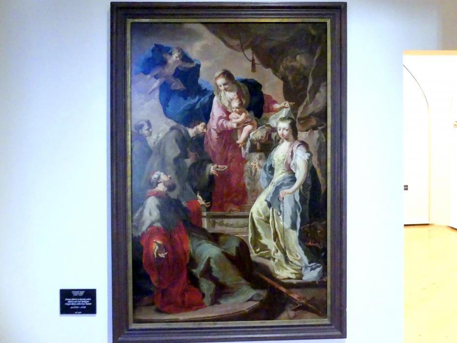 Anton Kern: Maria mit vier Heiligen, um 1735 - 1738