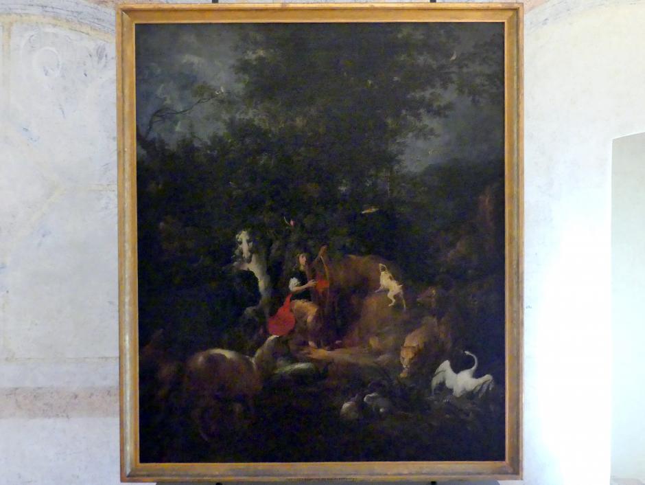 Wenzel Lorenz Reiner: Orpheus mit Tieren in der Landschaft, vor 1720
