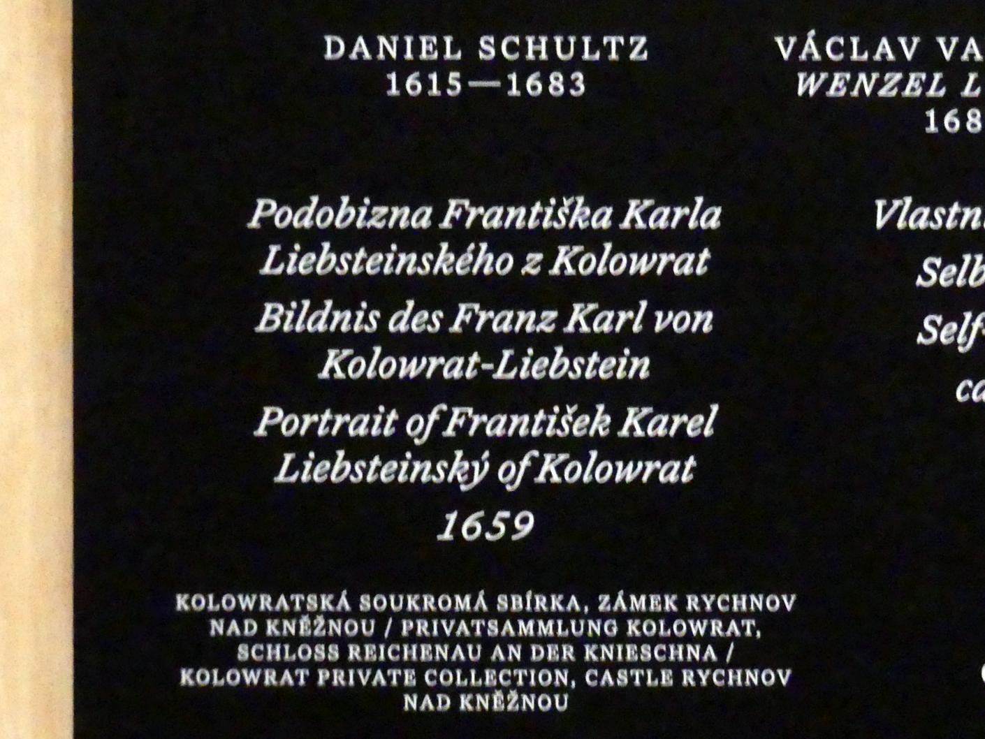 Daniel Schultz: Bildnis des Franz Karl von Kolowrat-Liebstein, 1659, Bild 2/2