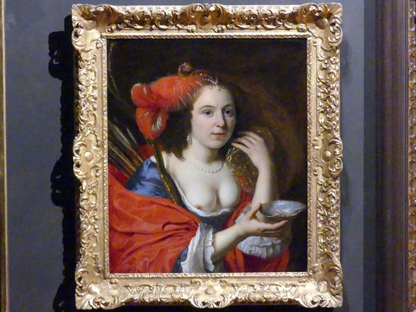 Bartholomeus van der Helst: Bildnis der Frau des Künstlers Anna du Pire als Granida, 1660