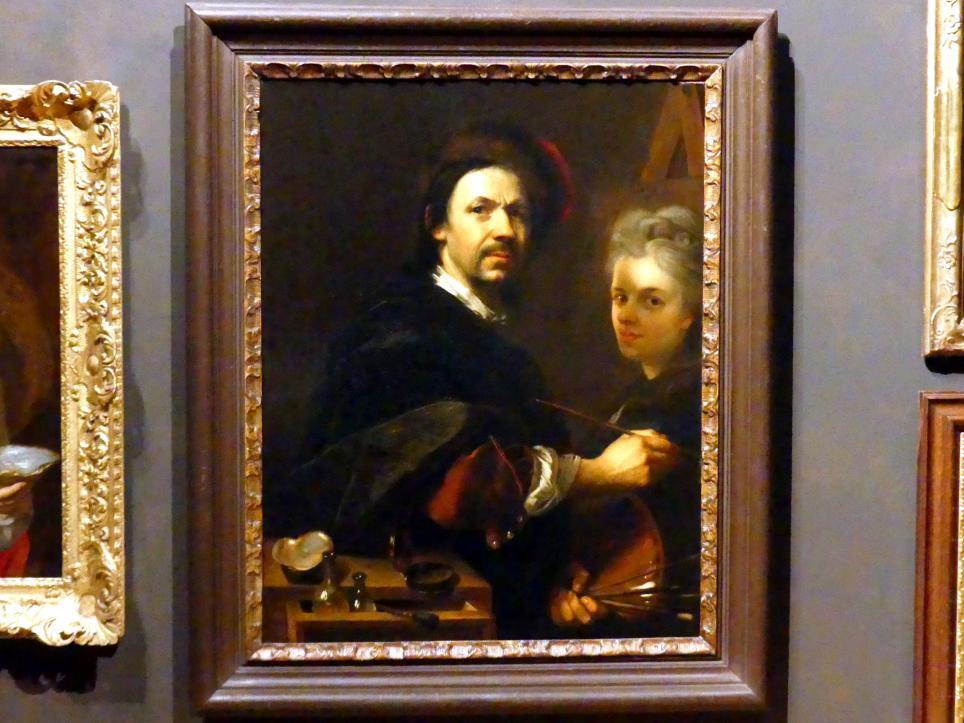 Johann Kupetzky: Selbstbildnis mit Porträt der Ehefrau, 1711