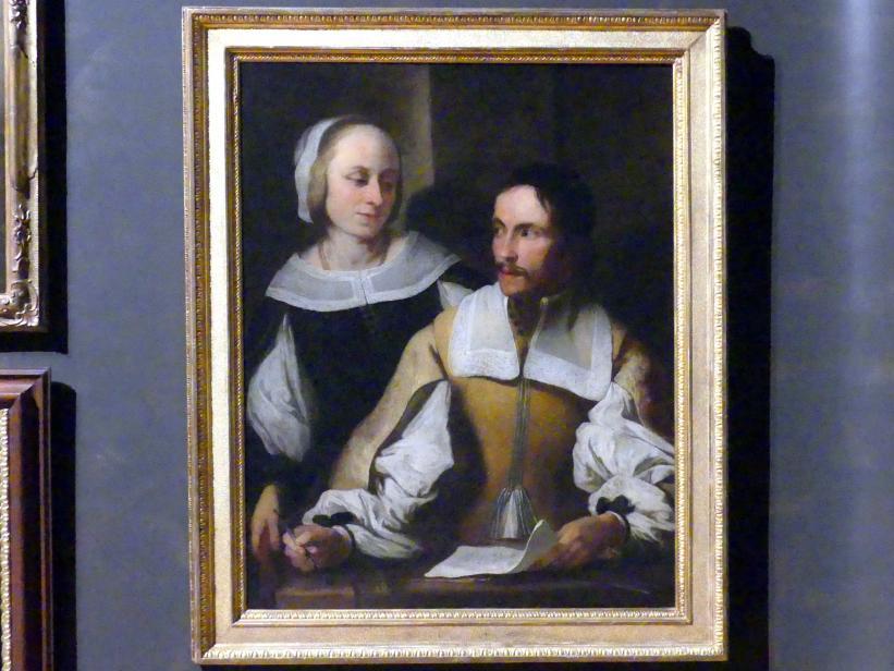 Karel Škréta: Bildnis eines Mathematikers mit Gemahlin (Samuel Globic von Bučin?), um 1640