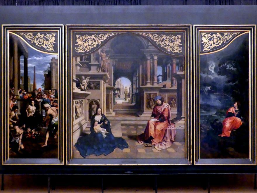 Jan Gossaert, genannt Mabuse: Der hl. Lukas zeichnet die Madonna, um 1513