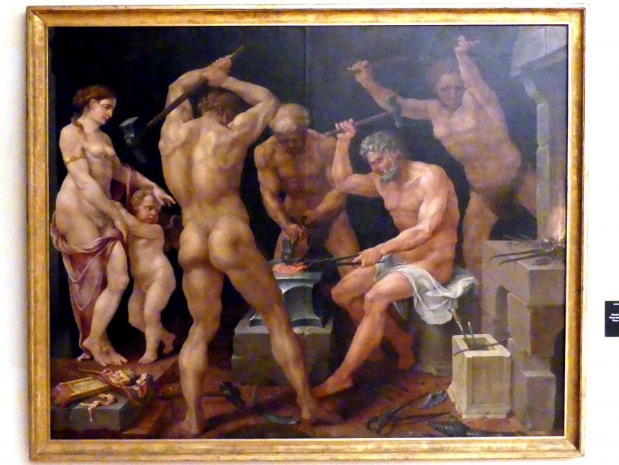 Maarten van Heemskerck: Venus und Cupido in Vulkans Werkstatt, 1536