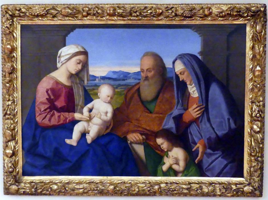 Vincenzo Catena: Maria mit Kind und den hll. Johannes d.T., Zacharias und Elisabeth, Undatiert