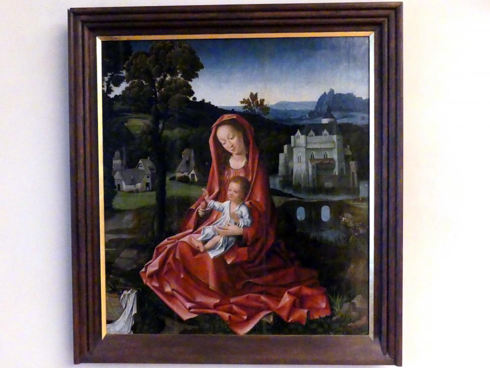 Goossen (Goswin) van der Weyden: Madonna mit Kind in einer Landschaft, Undatiert