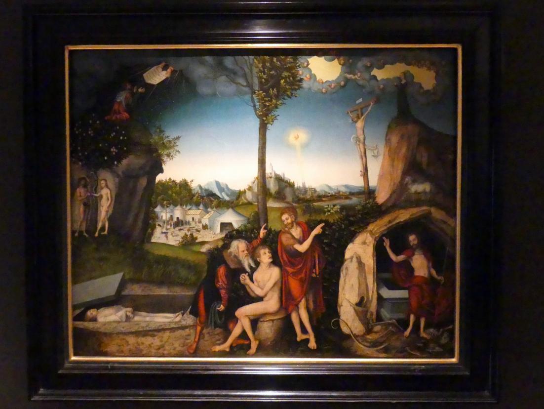 Lucas Cranach der Ältere: Gesetz und Gnade, 1529