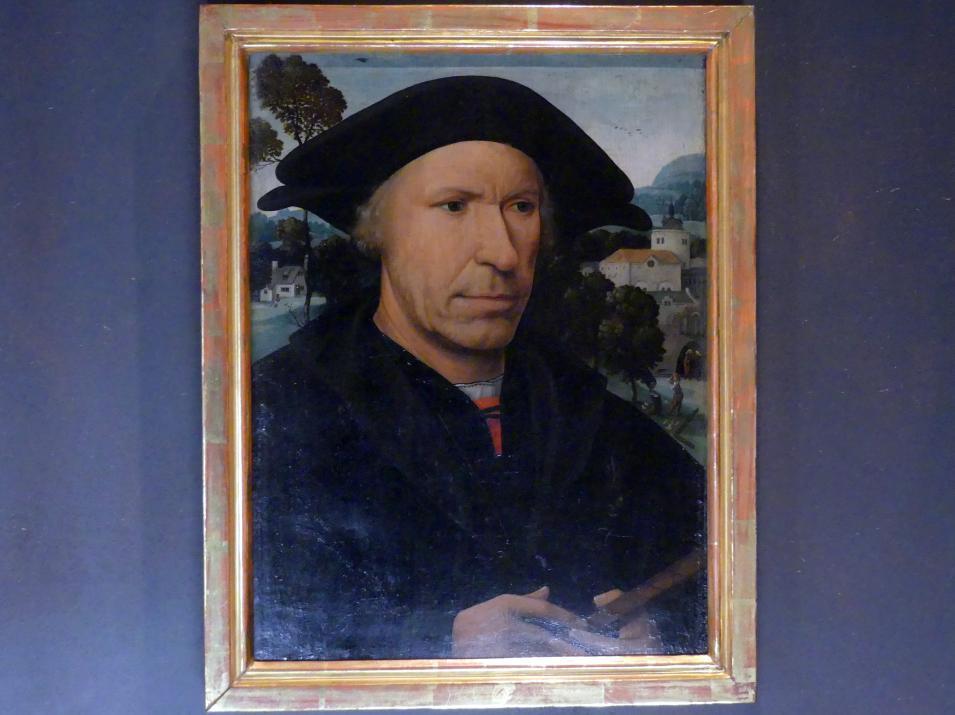 Meister der Magdalenen-Legende: Bildnis eines Mannes mit einem Kerbholz, 1516