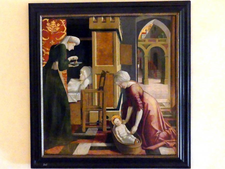 Michael Pacher: Die Geburt Mariens, um 1465