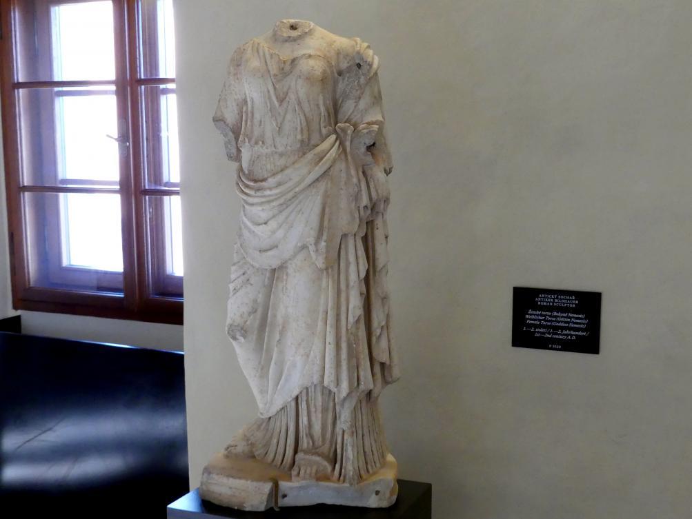 Weiblicher Torso (Göttin Nemesis), um 50 - 150