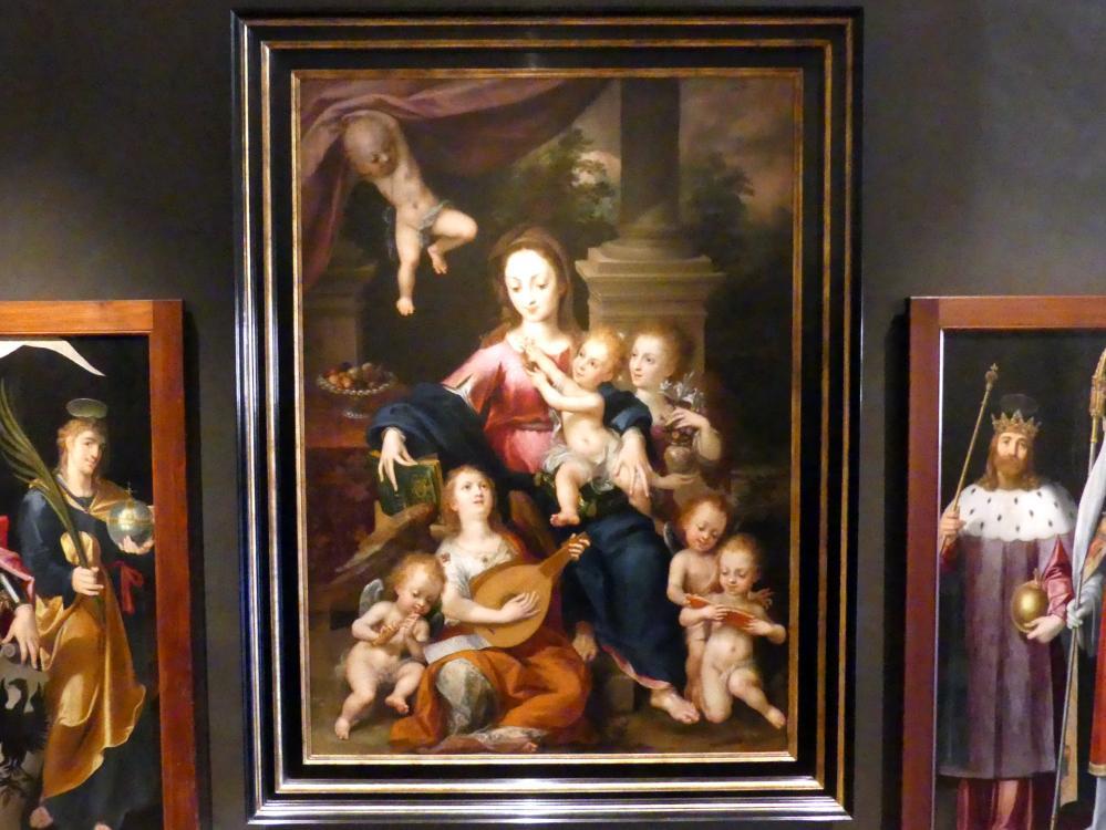 Dirck de Quade von Ravesteyn: Madonna mit Kind und musizierenden Engeln, Undatiert
