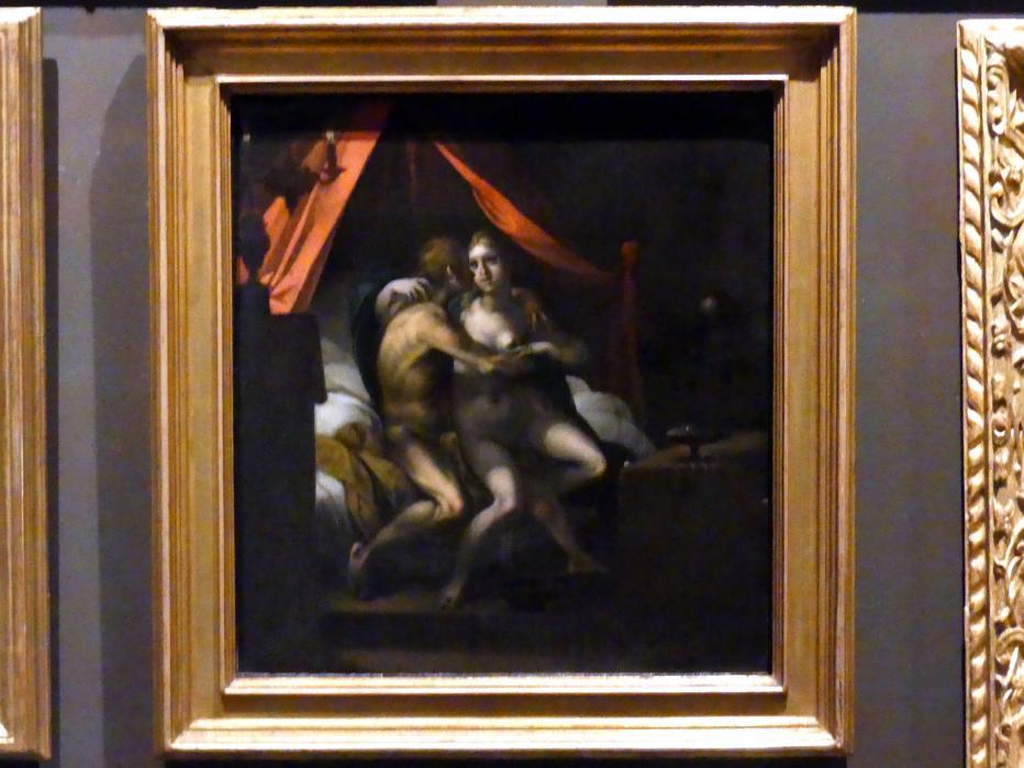 Christoph Gertner: Junges Paar mit Knochenmann (Vanitas), um 1600