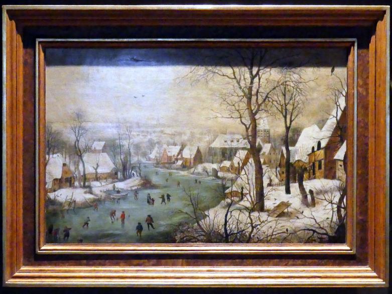 Pieter Brueghel der Jüngere (Höllenbrueghel): Winterlandschaft mit Vogelfalle, Undatiert