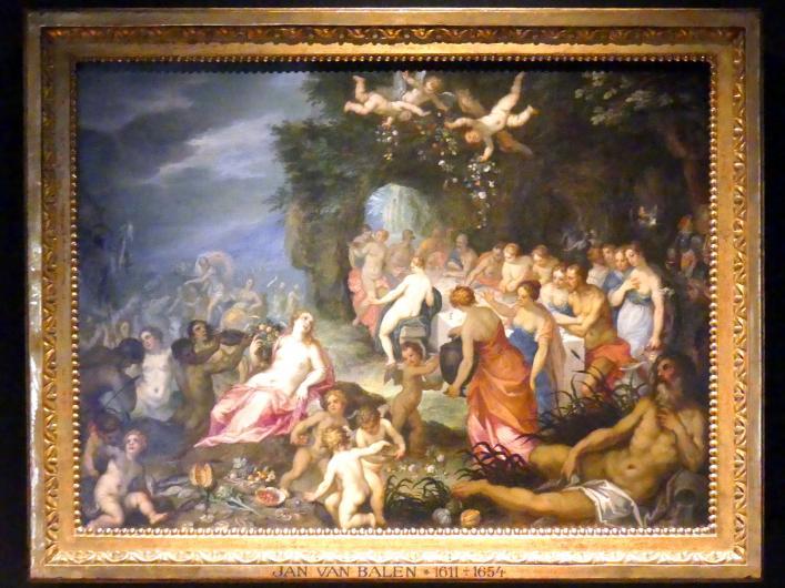 Hendrik van Balen der Ältere: Götterfest (Hochzeit von Peleus und Thetis), Undatiert