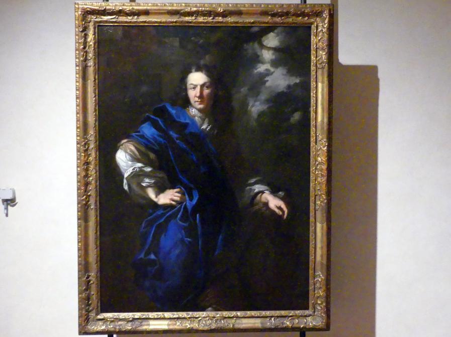 Peter Johann Brandl: Bildnis eines Adligen im blauen Mantel, um 1710