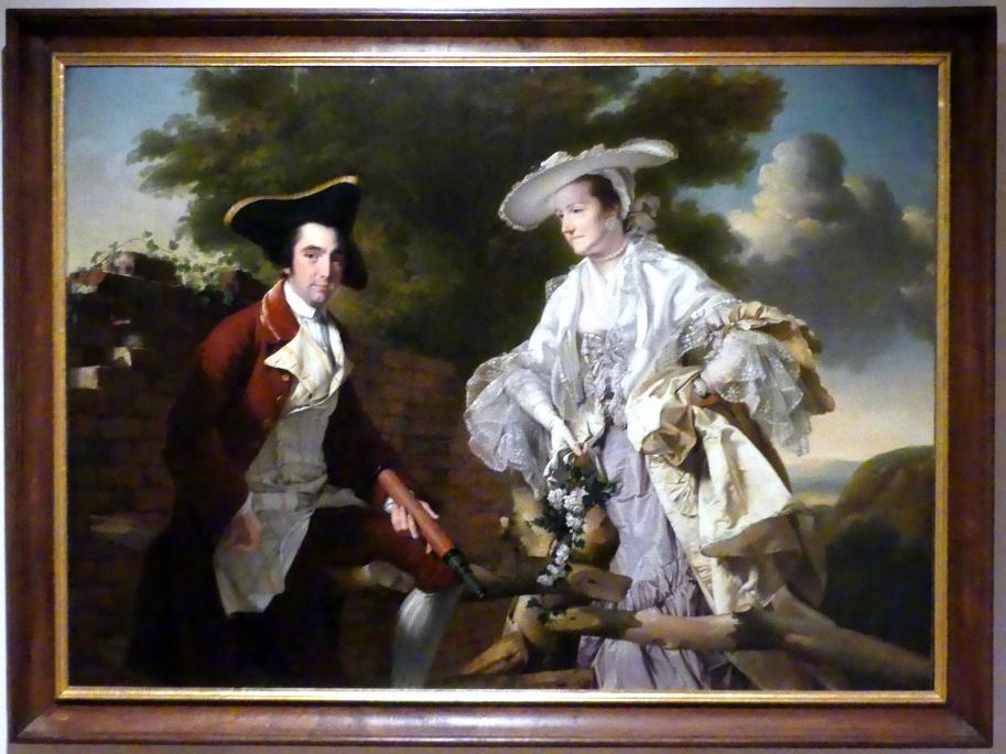 Joseph Wright of Derby: Bildnis des Peter Perez Burdett und seiner ersten Frau Hannah, 1765