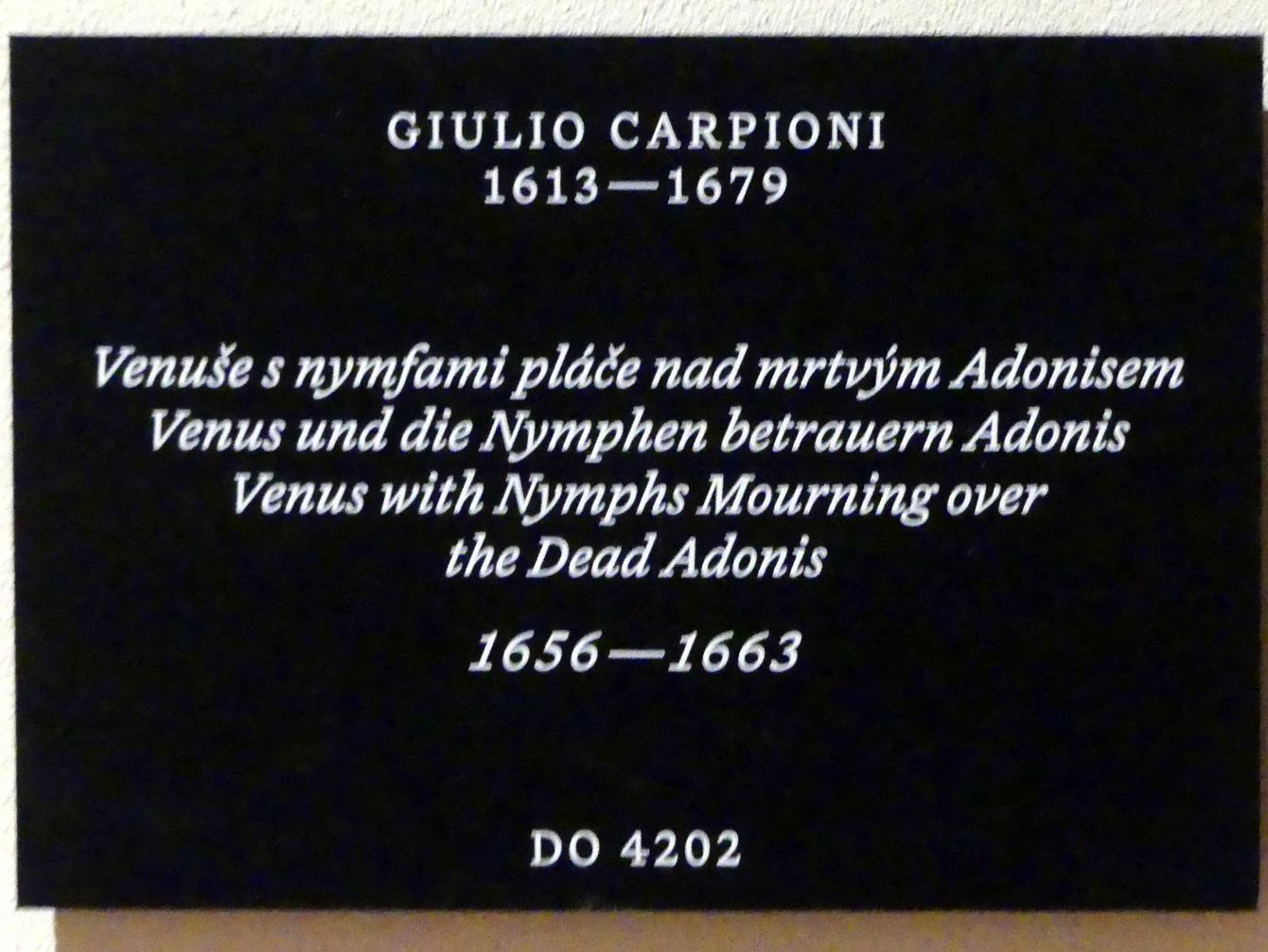 Giulio Carpioni: Venus und die Nymphen betrauern Adonis, 1656 - 1663, Bild 2/2