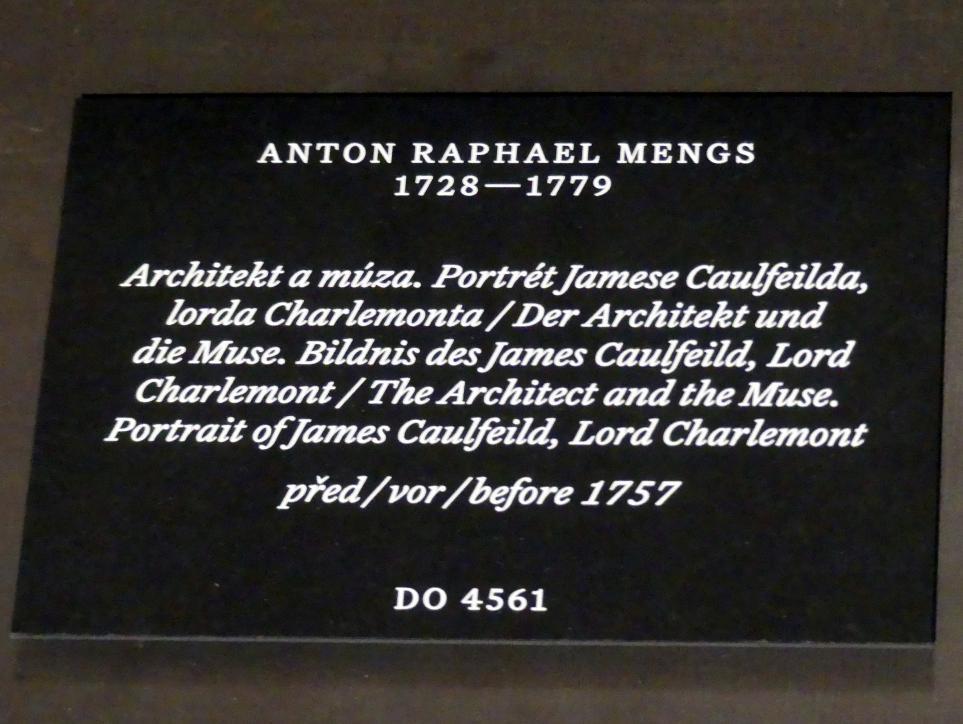 Anton Raphael Mengs: Der Architekt und die Muse. Bildnis des James Caulfield, Lord Charlemont, vor 1757, Bild 2/2