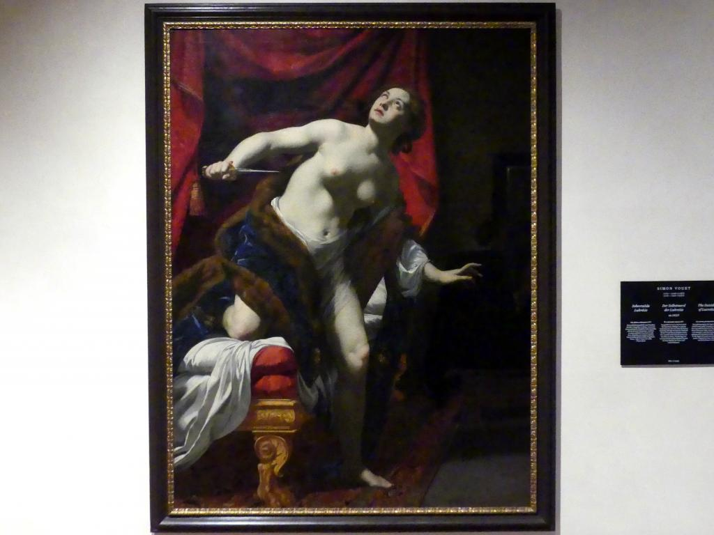 Simon Vouet: Der Selbstmord der Lukretia, um 1625