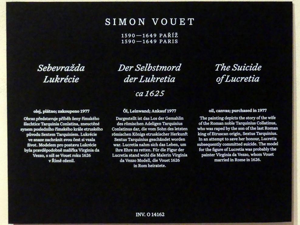 Simon Vouet: Der Selbstmord der Lukretia, um 1625, Bild 2/2