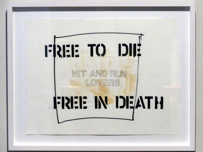 Monica Bonvicini: Untitled (Free to Die Free in Death), 2001