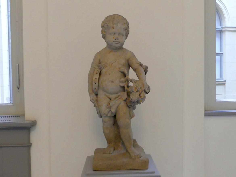 Andreas Schlüter: Putto mit Trommel, Maske und Blumengirlande, 1711 - 1712