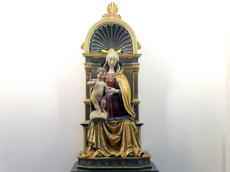 Silvestro dell'Aquila (Silvestro di Giacomo): Thronende Madonna, Letztes Drittel 15. Jhd.