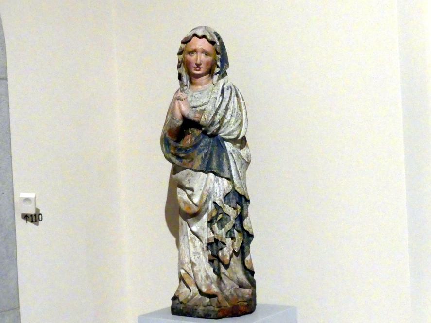 Klagende Maria aus einer Kreuzigung Christi, um 1420 - 1425