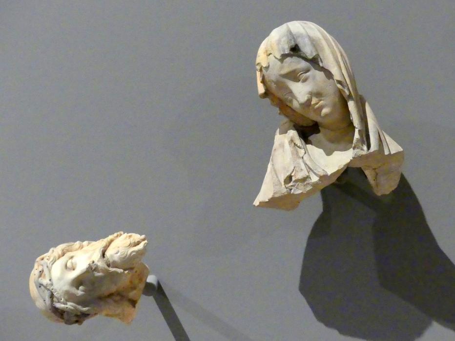 Köpfe von einem Vesperbild, um 1400