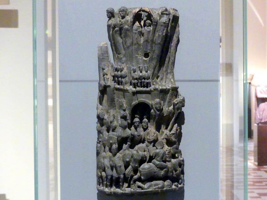 Relief mit Befreiung einer belagerten Stadt, Beginn 5. Jhd.