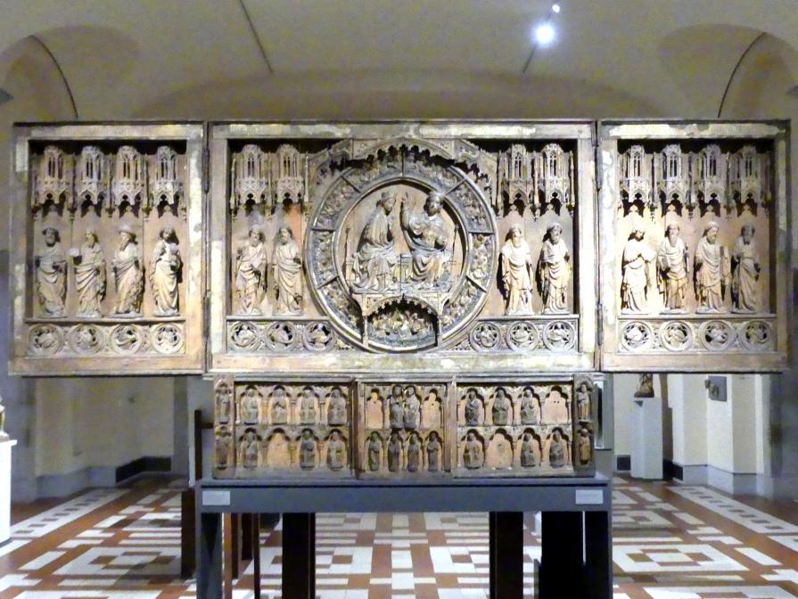 Das Hochaltarretabel des Doms zu Minden: Krönung der Maria und Apostel, um 1425