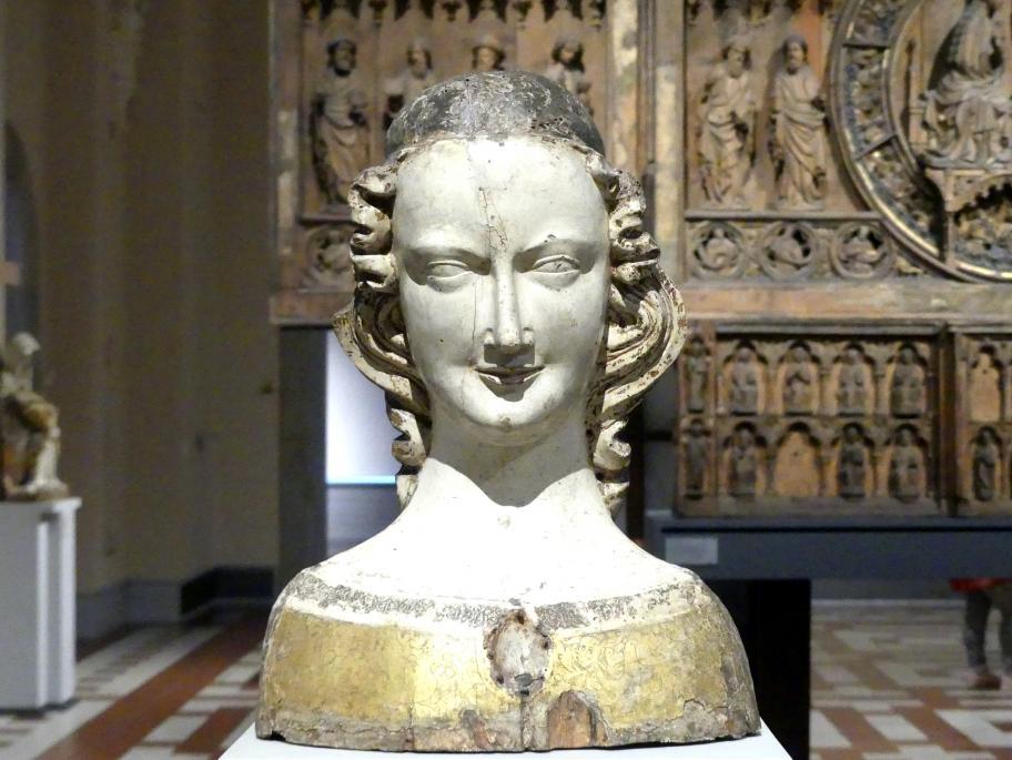 Reliquienbüste einer weiblichen Heiligen, um 1300