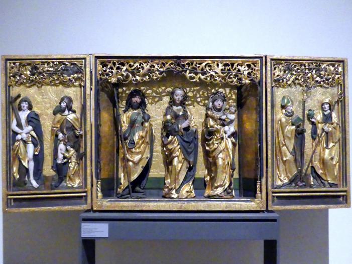 Flügelretabel mit Anna Selbdritt und weiteren Heiligen, 1512