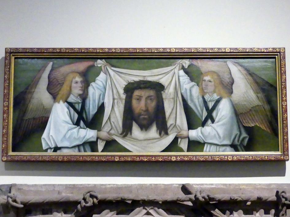 Bartholomäus Zeitblom: Das Schweißtuch der hl. Veronika von zwei Engeln gehalten, 1496