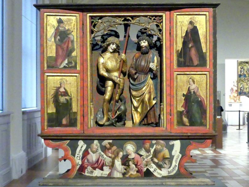Flügelretabel   mit den hll. Georg und Apostel Bartholomäus, um 1517