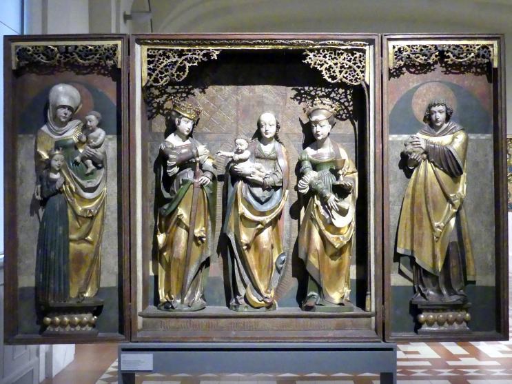 Flügelretabel mit der Muttergottes, der Anna Selbdritt und weiteren Heiligen, um 1520