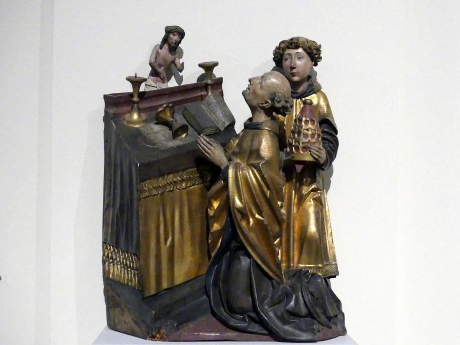 Michel Erhart: Messe des heiligen Papstes Gregor, um 1480
