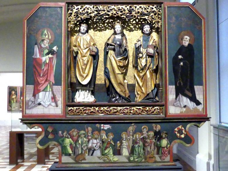 Flügelretabel mit Heiligen und den Vierzehn Nothelfern, um 1500