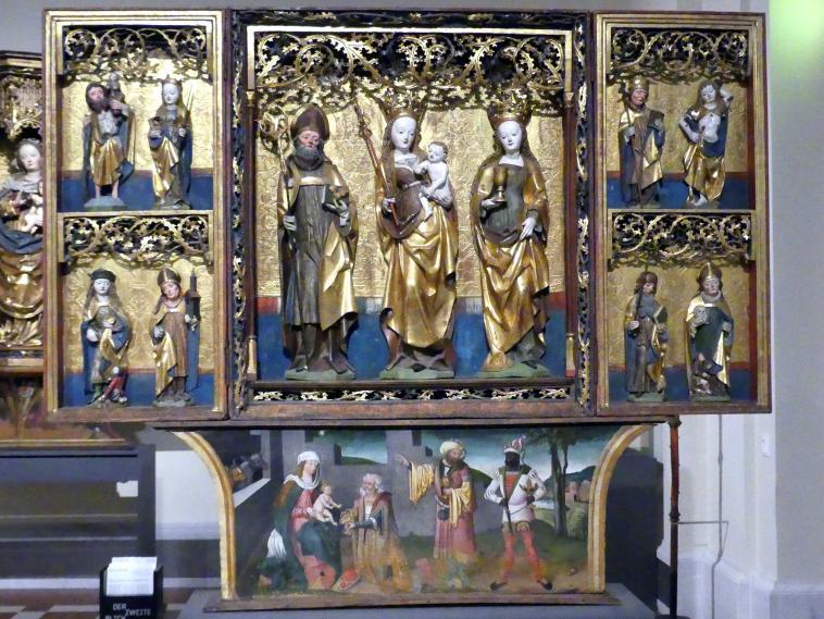 Flügelretabel mit der Muttergottes und Heiligen, um 1510 - 1520