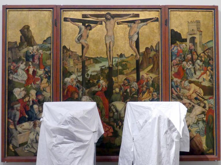 Flügelretabel mit Szenen aus der Leidensgeschichte Christi, um 1485