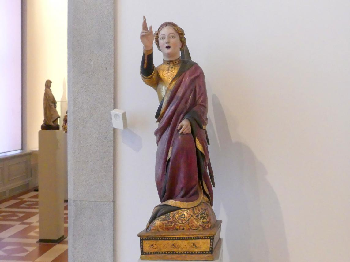Mariano d'Agnolo Romanelli: Engel aus einer Verkündigungsgruppe, Ende 14. Jhd.