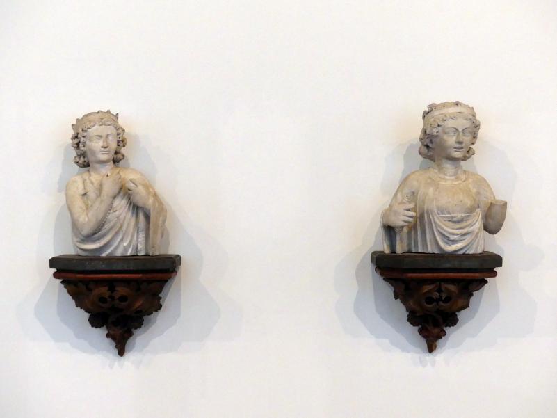 Personifikation von zwei Tugenden, um 1382