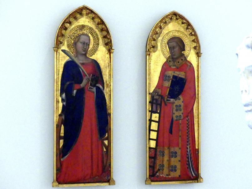 Puccio di Simone: Flügel eines Altarwerks: Hl. Katharina von Alexandrien | hl. Laurentius, um 1345