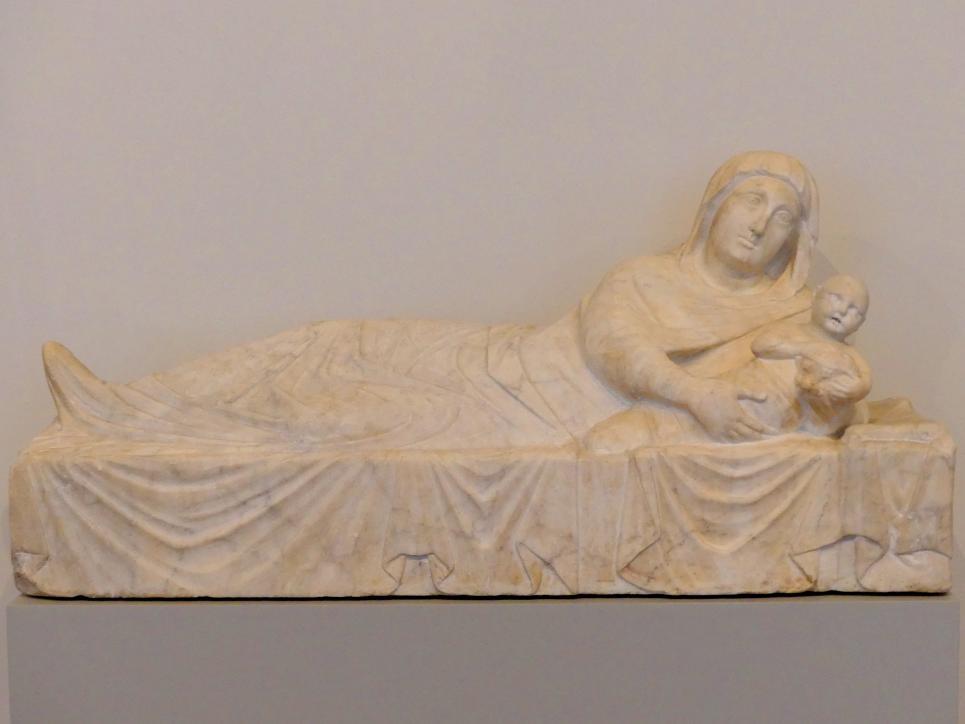 Arnolfo di Cambio (Umkreis): Madonna mit Kind (Teil einer Anbetung der Könige), um 1290 - 1295