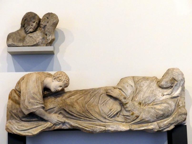 Arnolfo di Cambio: Tod der Maria (Fragmente), um 1300
