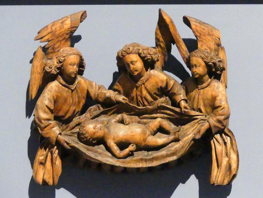 Hans Multscher (Umkreis): Drei Engel mit dem Christuskind, um 1430 - 1440