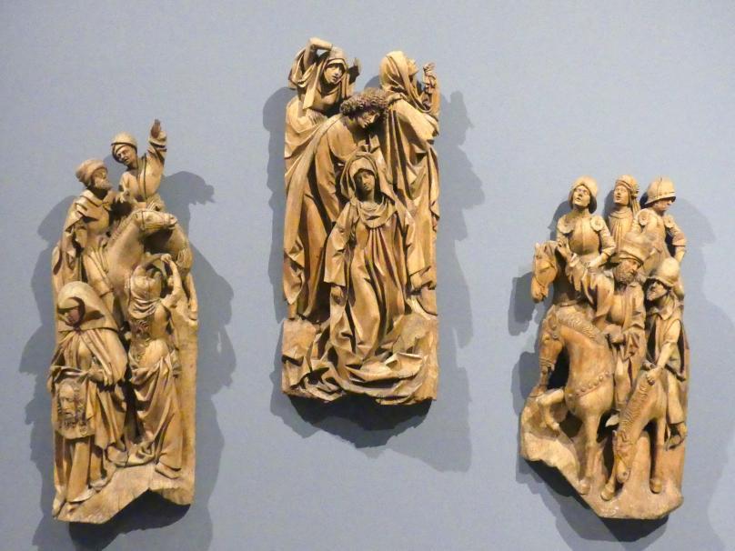 Gruppen aus einer Kreuzigung Christi, um 1480