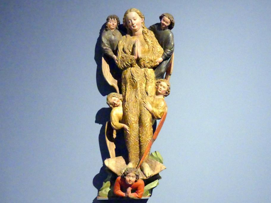 Hans Multscher: Hl. Maria Magdalena, von Engeln zum Himmel emporgetragen, um 1430