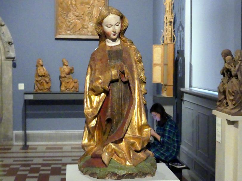 Maria aus einer Anbetung des neugeborenen Christuskindes, um 1470 - 1480